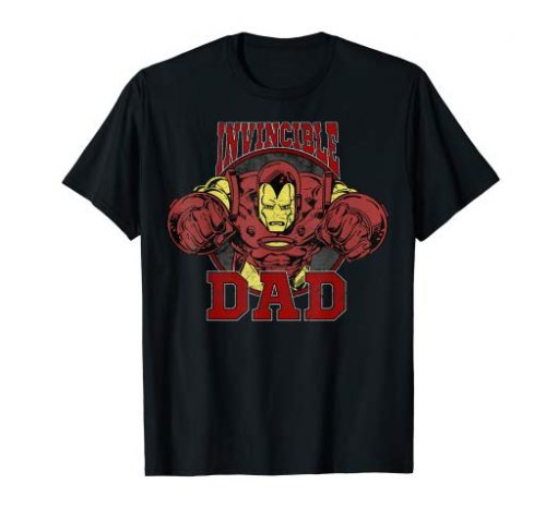 Father's Day Invincible Dad Iron Man Graphic T-Shirt