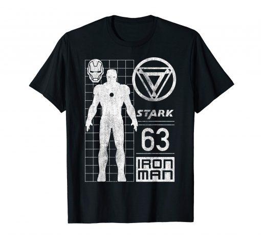 Iron Man Stark Industries 63 Moto Geometric T-Shirt