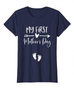 Womens My First Mothers Day Pregnancy Announcement Gift Shirts