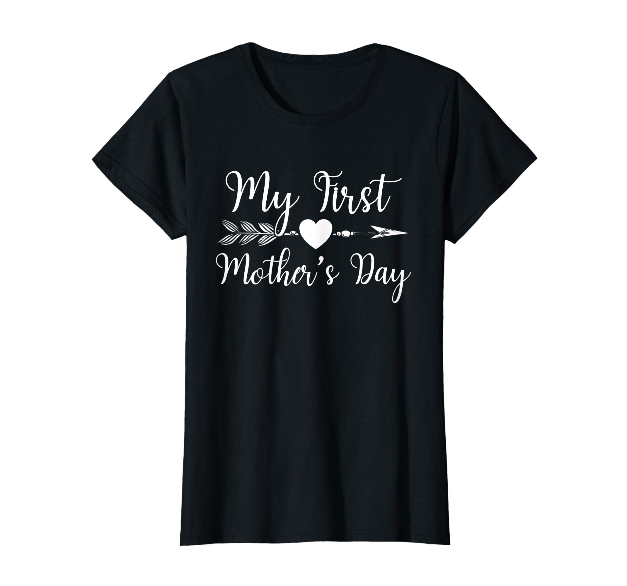 d783759436a85 Womens My First Mothers Day Pregnancy Announcement Mom Shirt