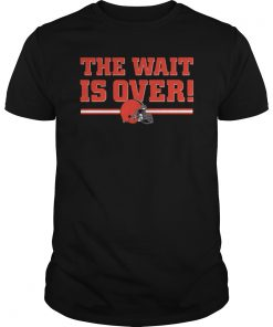 Cleveland Browns The Wait Is Over Classic Men, Women T-Shirt