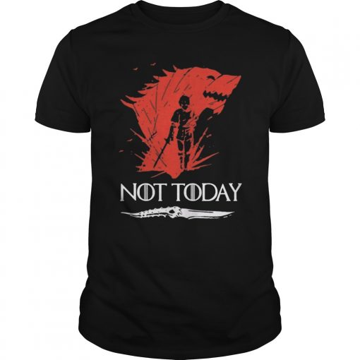 Not Today Death Valyrian Dagger No One Game Of Thrones Youth Kids TShirt