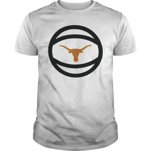 Texas Longhorns Basketball and Logo Performance Shirt Basketball Logo Tshirt