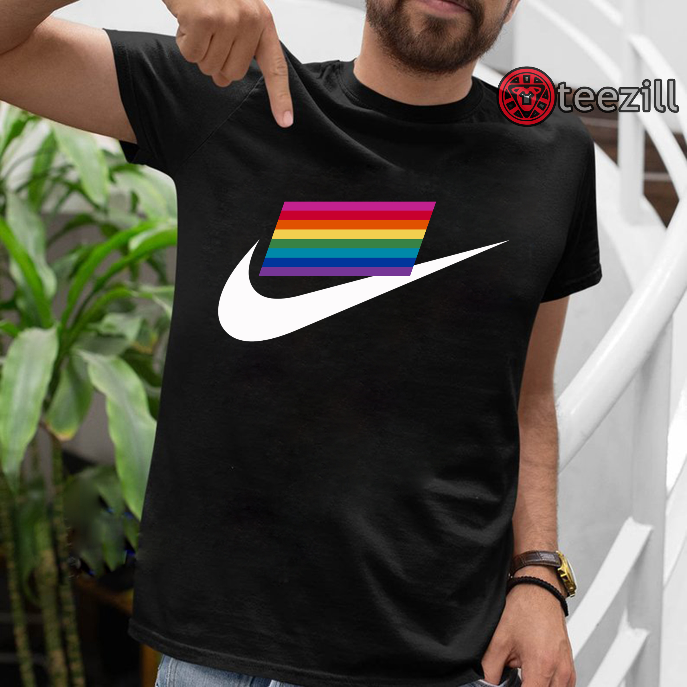 85bc4ff3 Nike's 2019 LGBT to Pride Flag Limited Edition Tshirt