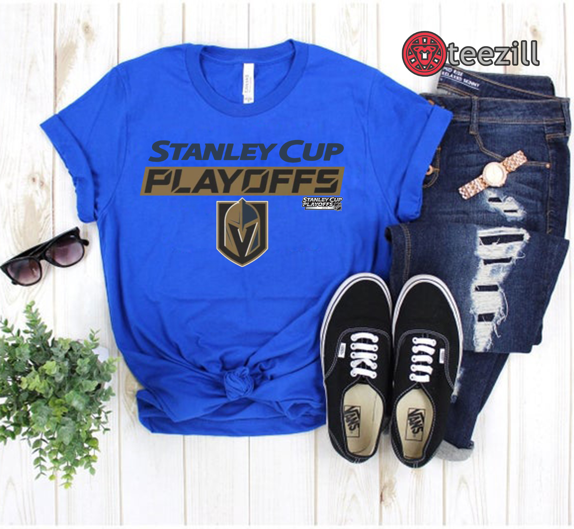 huge selection of 763c9 db6d0 Stanley Cup Playoffs Vegas Golden Knights 2019 Tshirt