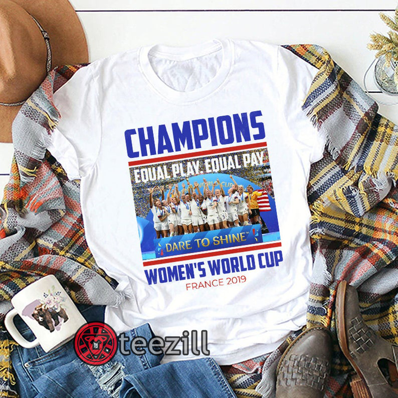 d01730cf9 Champions USA Women's World Cup France 2019 Winners T-Shirt, USWNT United  States Women's National Team Celebration, 4th Time World Cup Shirt