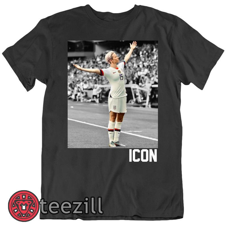 new product cce97 585b3 Megan Rapinoe Icon US Womens Soccer T Shirt