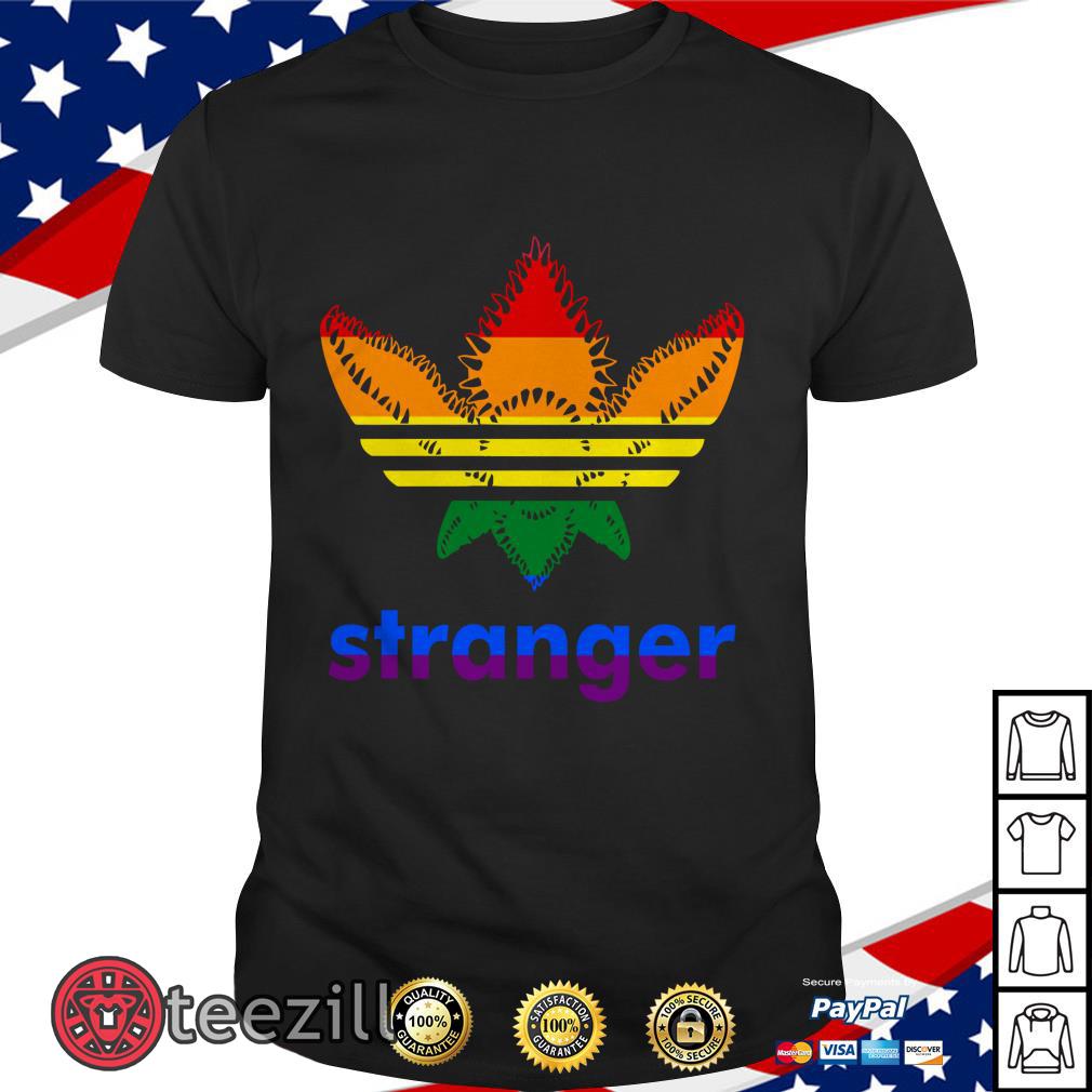 Stranger Things Adidas Stranger LGBT Tshirt