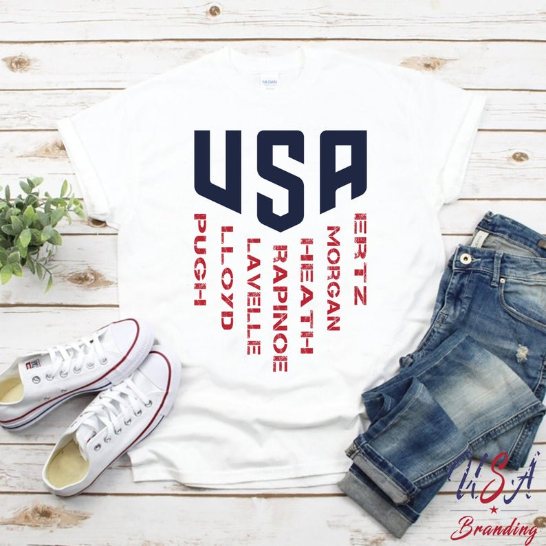 online store cc71f f8a03 USWNT Shirt United States Women's National Soccer Team Shirt