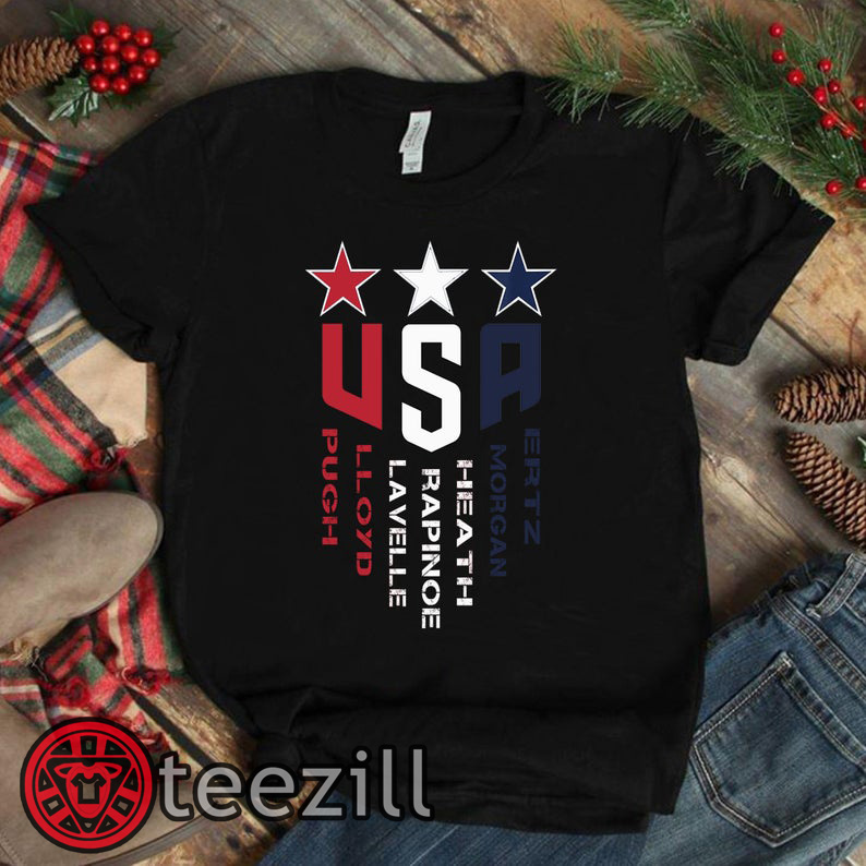 newest 0d79c d2656 USWNT -United States Women's National Soccer Team Shirt, Alex Morgan, Julie  Ertz, Tobin Heath, Megan Rapinoe, Mallory Pugh. Unisex T-Shirt