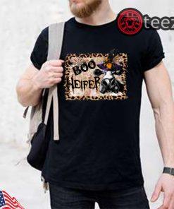 Halloween boo heifer leopard shirt