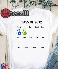 Class of 2032 grow with me shirts