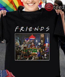 Friends TV Show Slashers Playing Poker Halloween 2019 Shirt