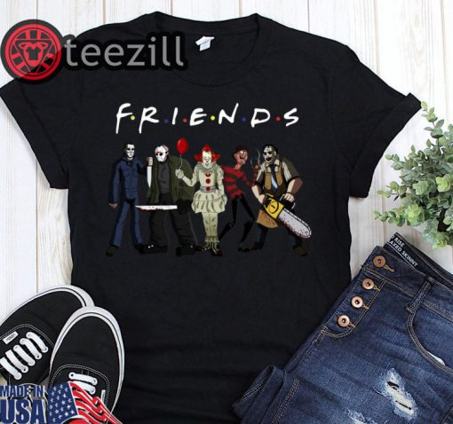 Friends horror movies characters halloween shirts