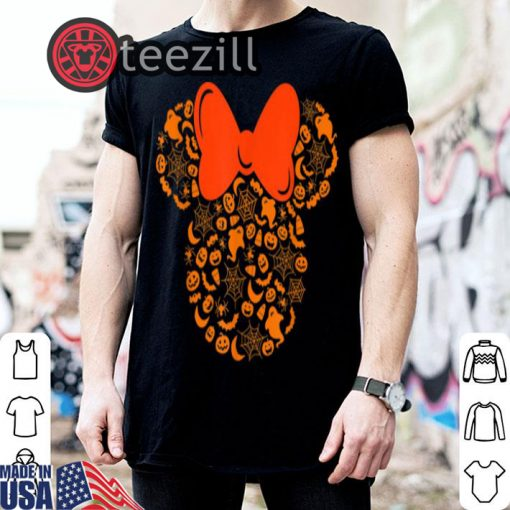 Halloween disney minnie mouse silhouette icon shirt