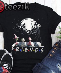 Halloween 2019 the nightmare walking abbey road friends tv show shirt