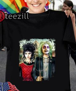 Halloween American Gothic Beetlejuice and Lydia T Shirt