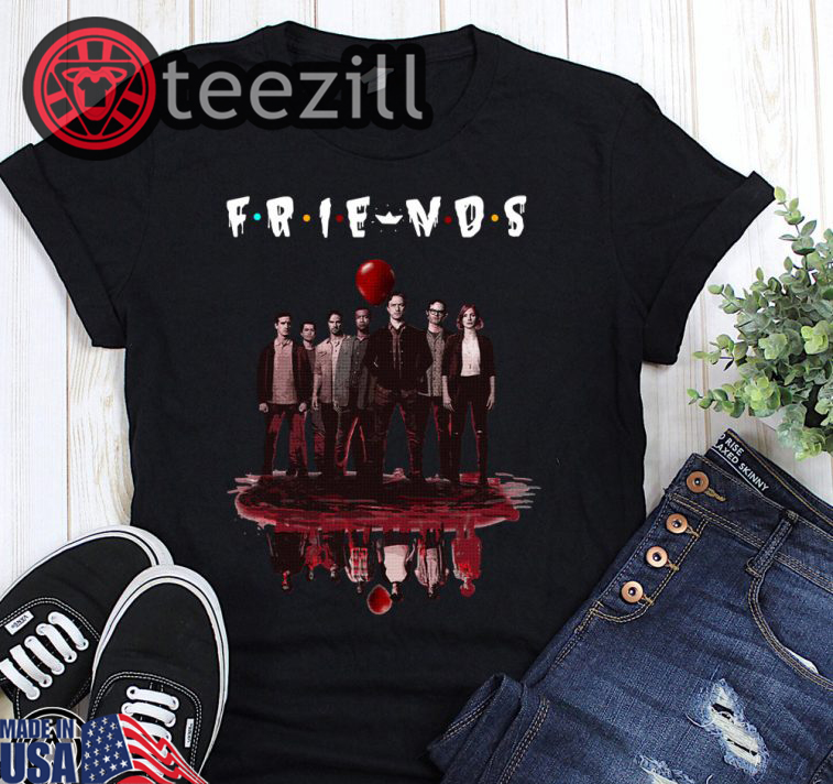 Halloween Friends Shirt.Halloween Friends Tv Show It Chapter Two Characters Friends Reflection Shirt