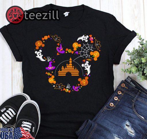 Halloween disney mickey mouse ghost shirt