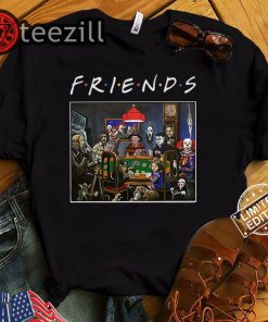 Halloween friends tv show slashers playing poker shirt