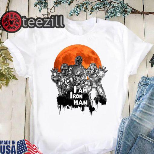 I am iron man zombie halloween horror shirt