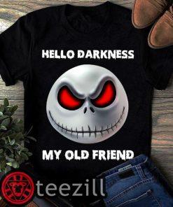Jack Skellington hello darkness my old friend shirt