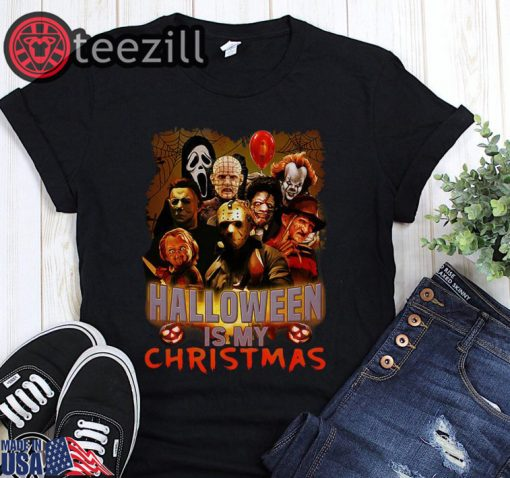 Logo Horror movie halloween is my christmas shirt