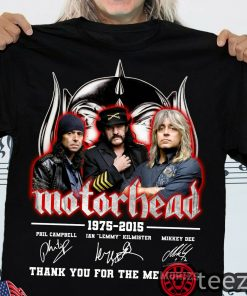 Motorhead-Thank You For The Memories 1975-2015 Shirt