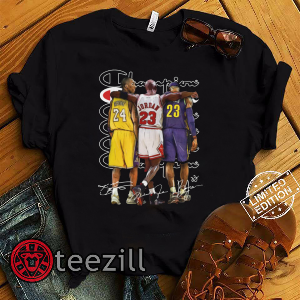 on sale ad4db 3c327 NBA legends lebron james michael jordan kobe bryant memories shirt