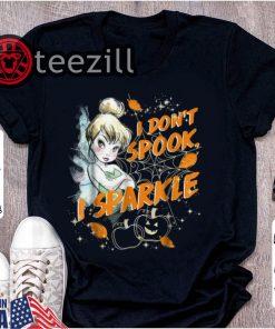 Original Peter Pan Tinkerbell I Don't Spook I Sparkle Halloween shirt