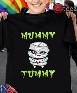 Pregnant Halloween Shirt Mummy Tummy TShirt