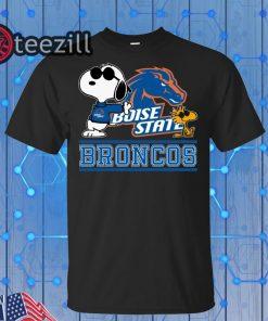 Snoopy University Boise State Broncos Gift Shirt