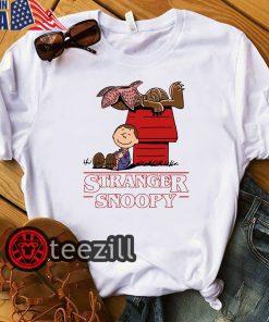 Stranger Snoopy Mixed Stranger Things Tee Shirts