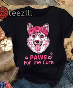 Breast Cancer Awareness Corgi For The Cure TShirt