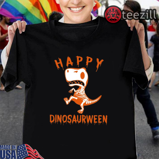 Dinosaurween Happy Halloween Kids T-shirt