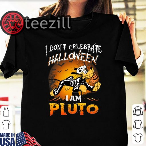 Disney Halloween I Don't Celebrate Halloween I Am Pluto Kids T-shirt
