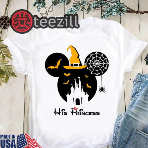 Disney Halloween Minnie Mouse Batty Castle His Princess Shirt