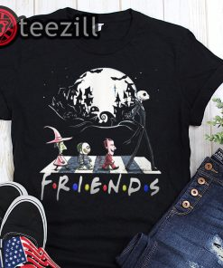 Friends tv show halloween the nightmare walking abbey road shirt