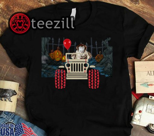 Halloween 2019 pennywise and jeep shirt