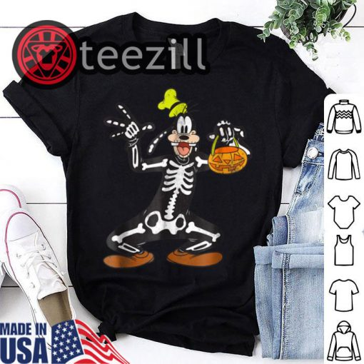 Halloween Disney Goofy Skeleton Shirts