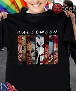 Halloween Friends tv show horror characters movies halloween shirt