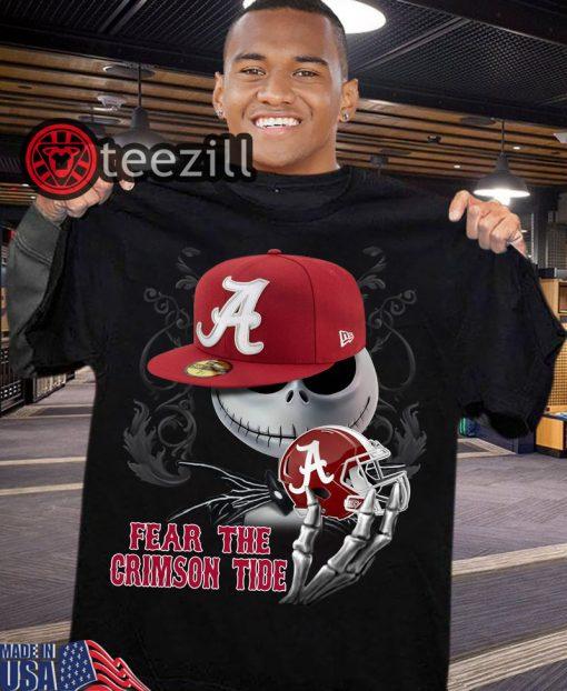 Halloween Jack Skellington Fear The Crimson Tide Shirt