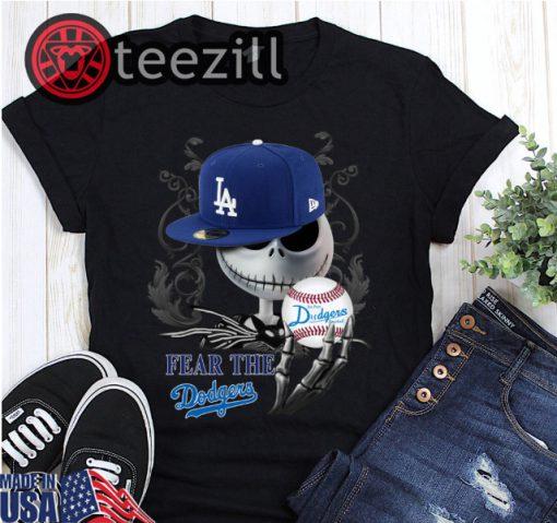 Halloween Jack Skellington Fear The Los Angeles Dodgers Shirt