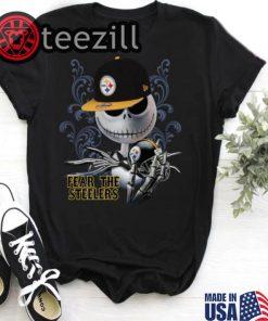 Halloween Jack Skellington fear the Pittsburgh Steelers shirt