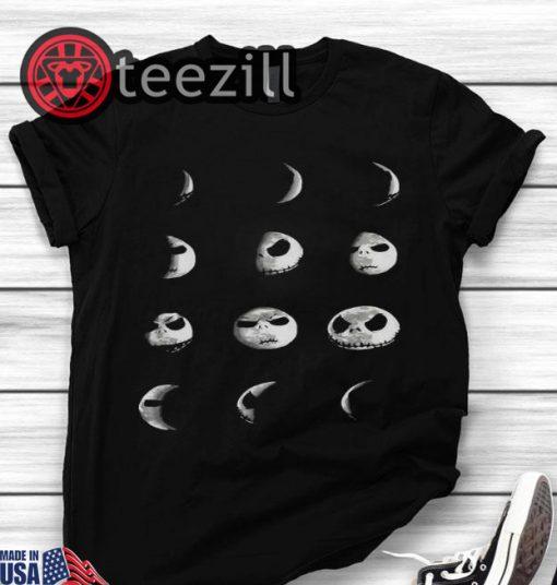 Halloween The Nightmare Before Christmas Jack Skellington Moon Shirt