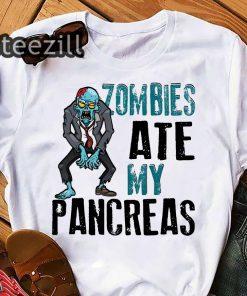 Halloween zombies ate my pancreas shirt