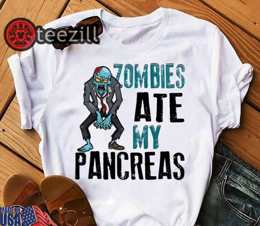 Halloween zombies ate my pancreas shirt