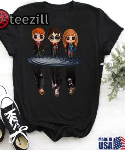 Harry Potter characters chibi water mirror reflection shirt