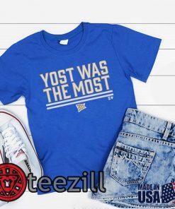 Men's Yost was the Most Blue Shirt