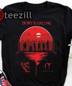 Men's it chapter two derry is calling halloween shirt